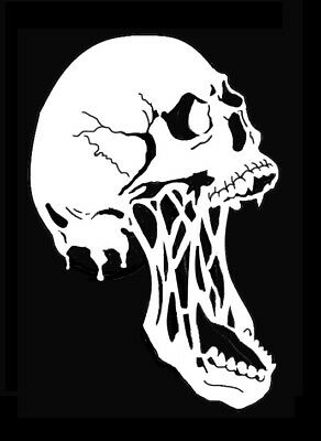 high detail airbrush stencil skull 75   FREE UK POSTAGE