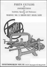 Armstrong Marvel 2 Draw Cut Hack Saw Operation Amp Maint Manual