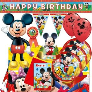 Mickey-Mouse-Playful-Party-Supplies-vaisselle-ballons-Decorations-Serviettes