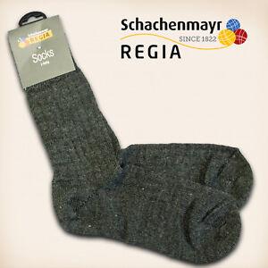 3-Paar-Regia-Gr-38-39-034-Fertigsocken-034-anthrazit-Schachenmayr-Sockenwolle-Socken