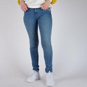Levi-039-s-711-Skinny-blau-Smiley-Damen-Jeans-29-32