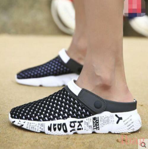 Mens Summer Beach Sandals Mesh Hollow Out Slippers Boys Slip On Shoes Sliders SZ