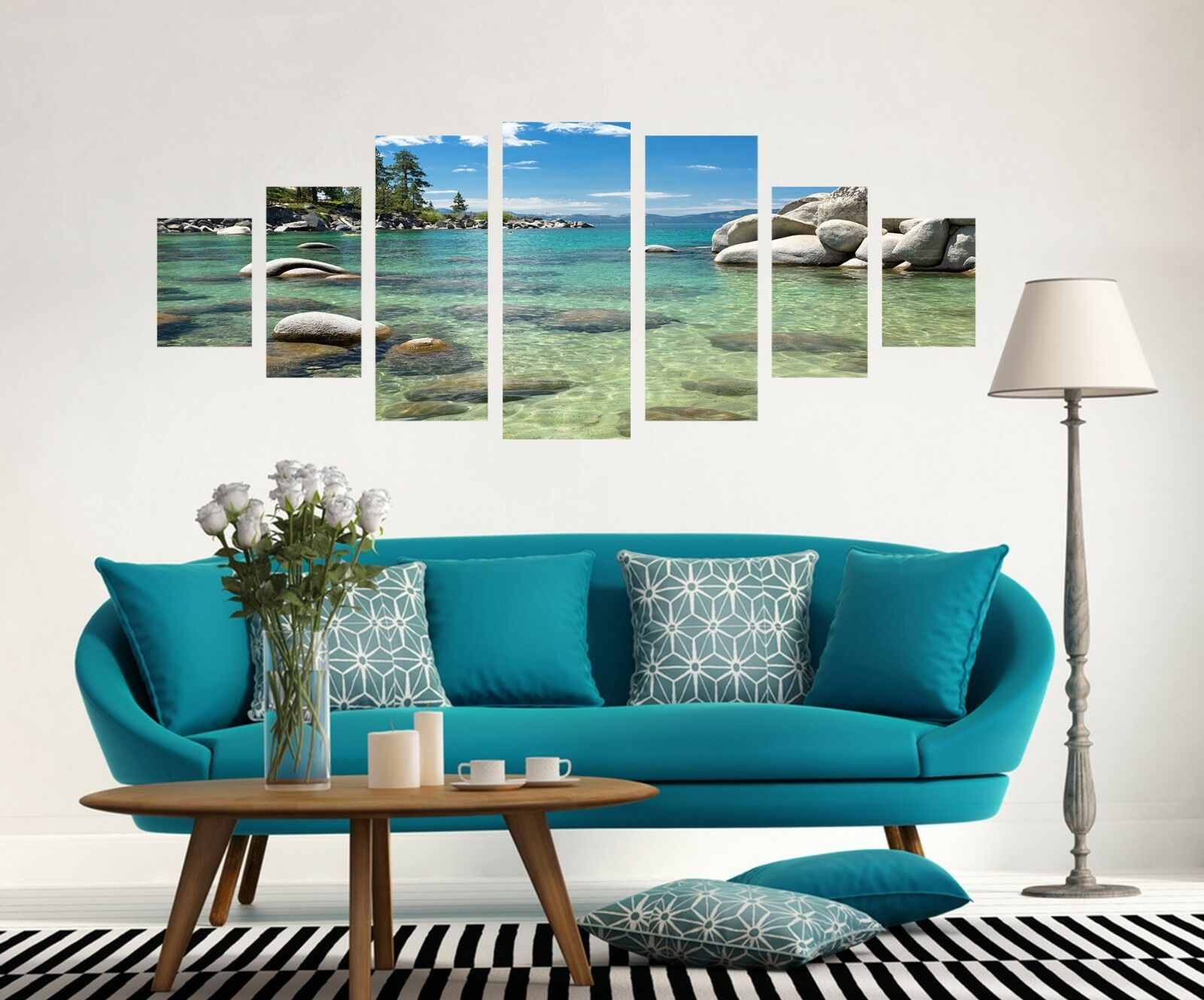 3D Clear River 72 Unframed Print Wall Paper Decal Wall Deco Indoor AJ Jenny