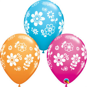 MOTHER-039-S-DAY-PARTY-SUPPLIES-10-x-11-034-CONTEMPO-DAISIES-QUALATEX-FLOWER-BALLOONS