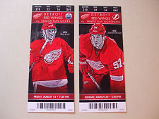 2014 DETROIT RED WINGS TICKETS (2) vs EDMONTON & TAMPA BAY  EXC L@@K!
