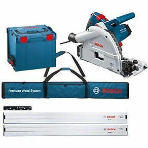 bosch gkt 55 gce circular plunge saw 1400w fsn 1600 guide rail kit l boxx 240v ebay. Black Bedroom Furniture Sets. Home Design Ideas