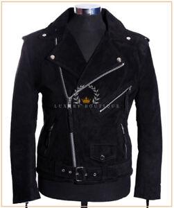 BRANDO Black Men/'s Biker Motorcycle Motorbike Cruiser Cowhide Leather Jacket