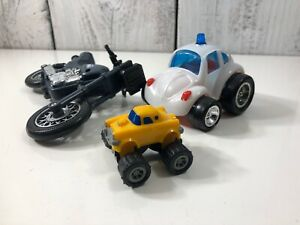 Mixed-LOT-of-3-Vintage-Swat-Motorcycle-VW-Beetle-Good-Condition-Ship-Worldwide