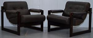PAIR-OF-MID-CENTURY-BRAZILIAN-ROSEWOOD-1975-PERCIVAL-LAFER-LEATHER-S1-ARMCHAIRS