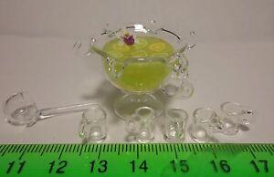 1:12 échelle Citron Punch Dans Un Bol En Verre Maison De Poupées Miniature Verre Accessoire-afficher Le Titre D'origine Emballage Fort