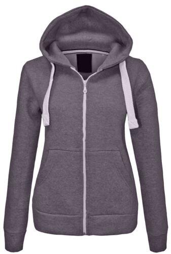LADIES Womens zip HOODIE jacket fleece sweatshirt hooded size 8 10 12 14 lot D1