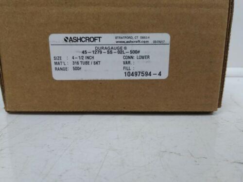 Details about  /Ashcroft Gauge 45-1279-SS-02L-500PSI INV