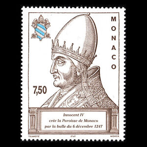 Monaco-1997-750th-Anniversary-of-Creation-of-Parish-of-Monaco-Sc-2066-MNH