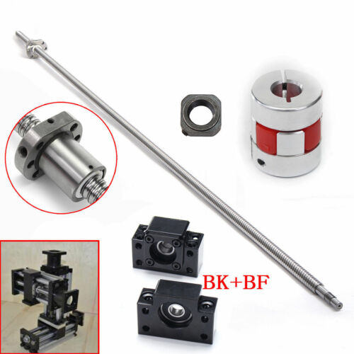 L1000mm SFU3210 C7 Ball Screw 10mm pitch BK//BF25/&Support Coupler/&Ball nut travel