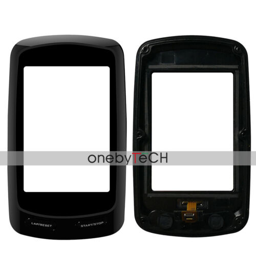 Black Front Touch Screen Glass+Frame Bezel Replacement For Garmin Edge 800 GPS