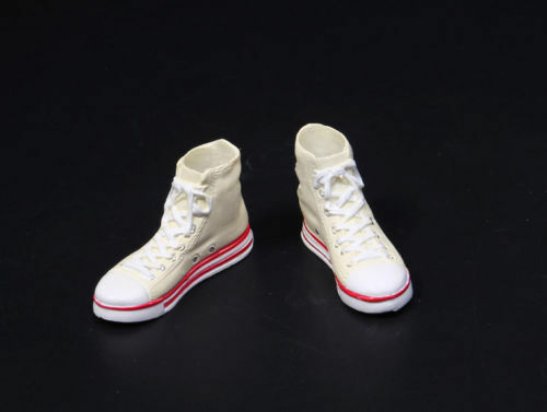 1//6 Scale Female White Sports Shoes Model F 12/'/' Female Figure Feet Removable