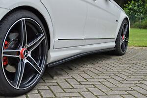 CUPS-Seitenschweller-Schweller-ABS-Mercedes-C-Klasse-W204-AMG-Line-schwarz-glanz