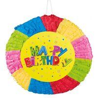 Pinata - Happy Birthday - 40x40cm Zum Befüllen Kinder Geburtstag Party Spiel