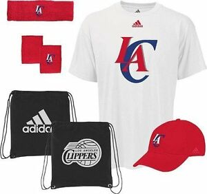 Los-Angeles-Clippers-Adidas-NBA-Basket-Ball-5-Pc-Shirt-Hat-Band-Combo-Pack