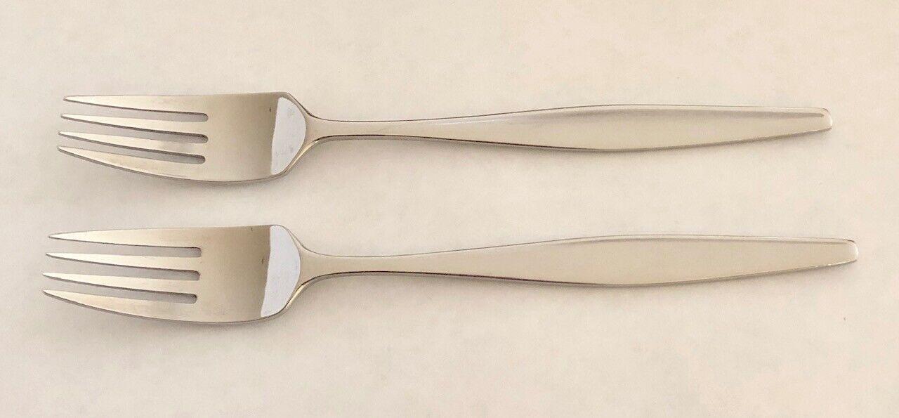 LAUFFER Japan VANTAGE Pattern 18 8 Inoxydable 7 1 2  dinner forks Set de 2