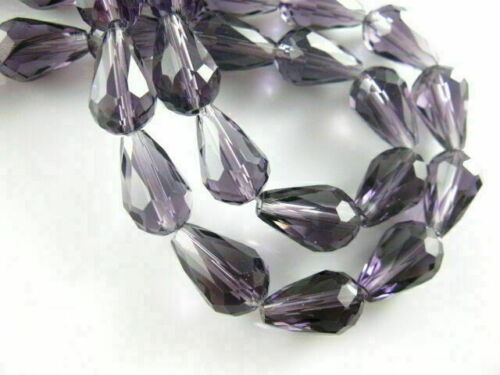20Pcs 10x15mm Crystal Tear Drop Glass Loose Spacer Beads DIY Jewelry Making