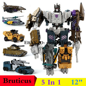 """New In Stock Bruticus G1 Combaticons HZX 5 In 1 Action Figure IDW 12"""" Kids Toys"""