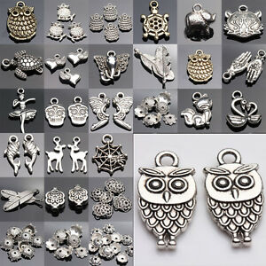 Lots-Tibetan-Silver-Mix-Spacer-Bead-Crafts-DIY-Charms-Pendant-Jewelry-Findings
