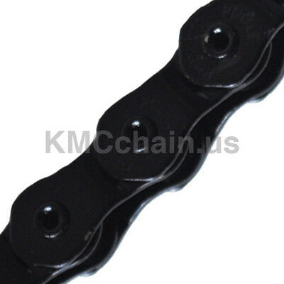 "KMC HL710L HALF LINK BMX single speed bicycle chain 1/2"" X 1/8"" 98L BLACK"