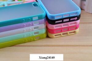 Bumper-coque-housse-etui-contour-silicone-arriere-transparent-iPhone-5-5s-5C
