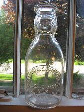 Decatur, ILL. TREQ BABYFACE Creamtop Milk Bottle Ridglydale Dairy ILLINOIS IL