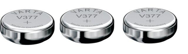 ENVOI SOUS SUIVI VARTA 3 Piles V377  27mAh 377 SR66 SR626SW   SR 626 LR66 1.55V