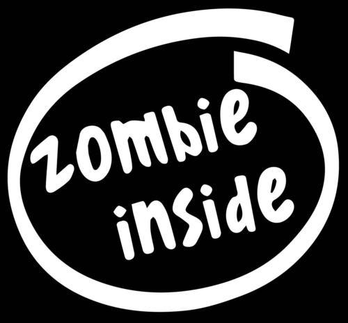 Zombie Inside Decal Vinyl Sticker Funny Euro JDM Racing Window Illest Car people