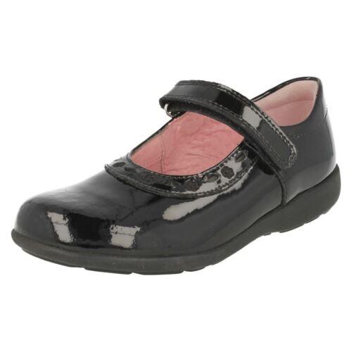 Filles Bleu Marine//Cuir Noir//brevet Start Rite Riptape School Chaussures Ciseaux