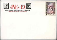 Australia 22c Lizard Optd Anpex 82 Pre-Paid Envolope Cover Unused #C18712