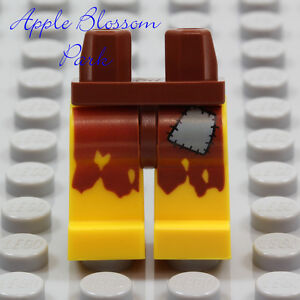 NEW-Lego-Pirate-YELLOW-MINIFIG-LEGS-Ship-Castaway-Brown-Male-Boy-Torn-Patch-Rags