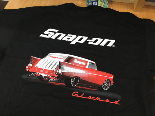 Snap-On Tools Mens Black Glo-mad Glomad T-Shirt Large New with Tags U.S Import