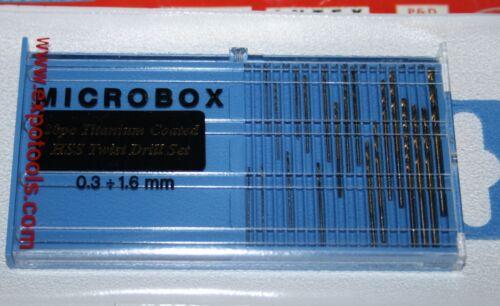 EXPO 11533 20pc TITANIUM COATED TWIST  DRILL SET 0.5MM-2.0MM  NEW ITEM