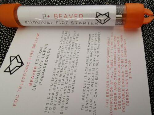 L @ @ K ** Pocket Bellow ** amélioré Prepper Design EDC Survival Fire Starter x1!!!