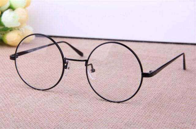 Retro Round Metal Frame Designer Clear Lens Glasses Nerd Eyeglass Spectacles New