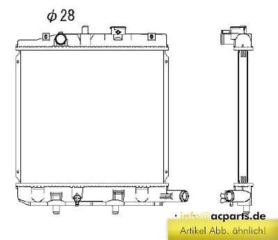 Wasserkühler MAZDA DEMIO 1.3 16V DW