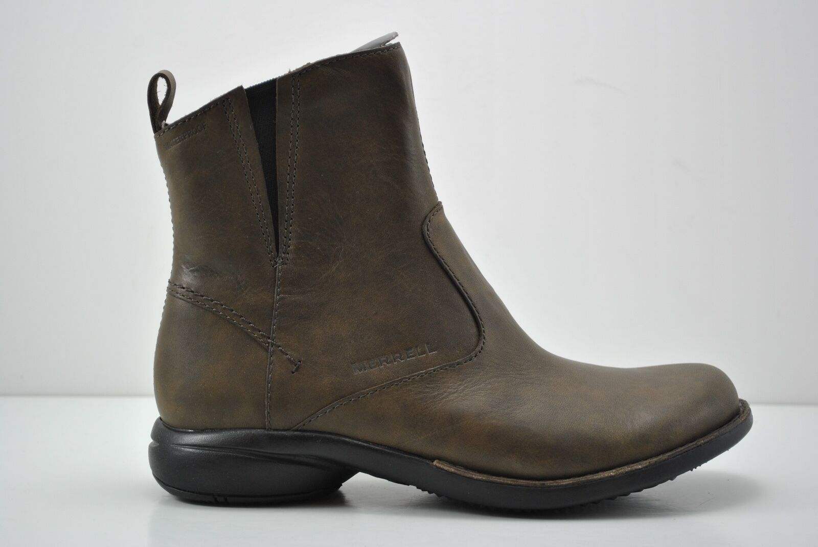 damen Merrell Tetra Catch Waterproof Leather Ankle Stiefel Größe 7M braun J45008