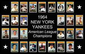 Details About New York Yankees 1964 World Series Custom Baseball Card Poster Decor Gift Ny 64