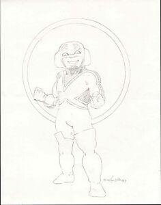 CAPTAIN-BRITAIN-TEDDY-BEAR-ORIGINAL-ART-PINUP-DRAWING-1987-EDWARD-LUENA