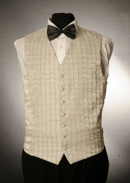 W - 1004. MENS/BOYS SILVER RUCHE WEDDING / DRESS/ SUIT / PARTY / FORMAL