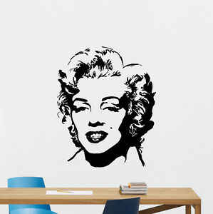 Image Is Loading Marilyn Monroe Wall Decal Celebrity Music Vinyl Sticker