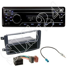 Mueta A4 USB SD CD Radio+Mercedes C-Klasse (W203) Blende schwarz+ISO Adapter SET