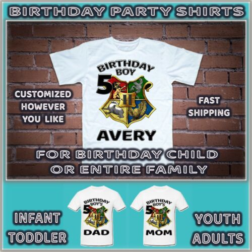 Harry Potter Birthday Shirt For Party T Shirts Tshirts Tee Personalized Custom