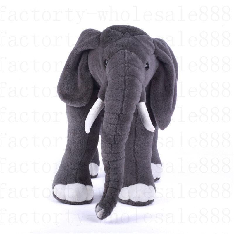 Giant Plush Simulation Elephant Toy Kids Soft Stuffed Animal Doll Kids Gift 70cm
