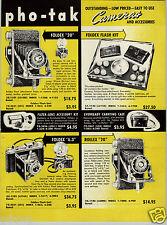 1952 PAPER AD Pho Tak Foldex Camera Rollex Traveler Eagle Eye Cub Photographer