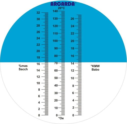 Winzer-Refraktometer 0-19O° Oe// KMW ATC// kein billiges Leichtgewicht// 3 Skalen